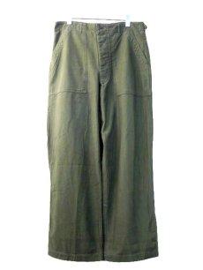 画像1: 1960's US Military Utility Baker Pants size ~ w 33 inch (表記 Medium) (1)