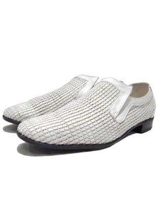 """画像1: 1970's """"Florsheim"""" Leather Mesh Shoes WHITE size 9C (1)"""