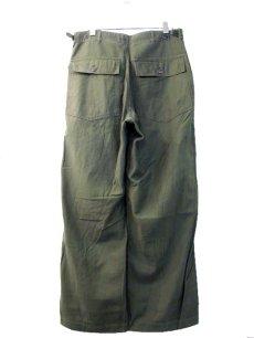 画像2: 1960's US Military Utility Baker Pants size ~ w 33 inch (表記 Medium) (2)