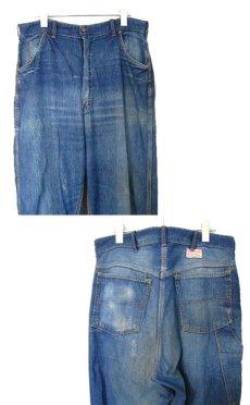 """画像3: 1950's """"Rail Chief"""" Denim Painter Pants size w 34.5 inch (表記 なし) (3)"""