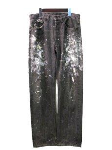 画像1: 1990's Levi's 501 Black Denim Paint Pants made in USA size 31.5 inch (表記 31 x 30) (1)