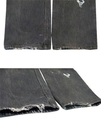 画像3: 1990's Levi's 501 Black Denim Paint Pants made in USA size 31.5 inch (表記 31 x 30)