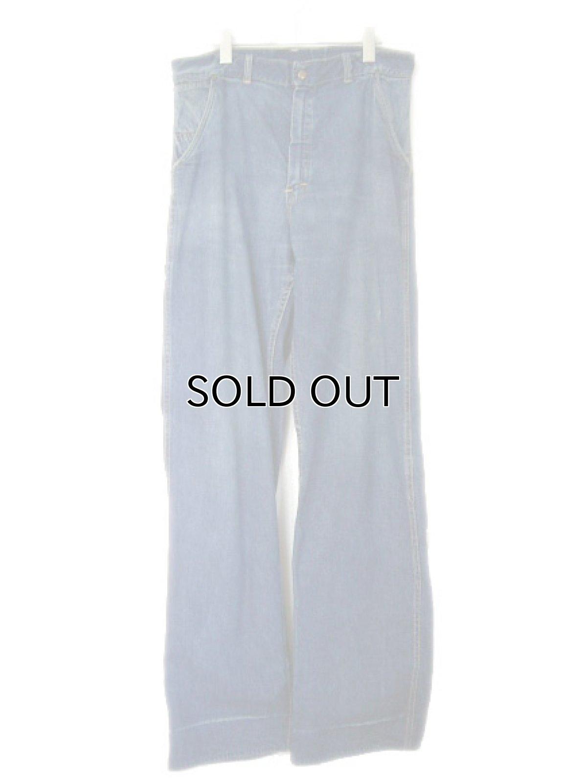 """画像1: 1950's """"CROWN"""" Denim Painter Pants size 34.5 inch (表記 なし) (1)"""