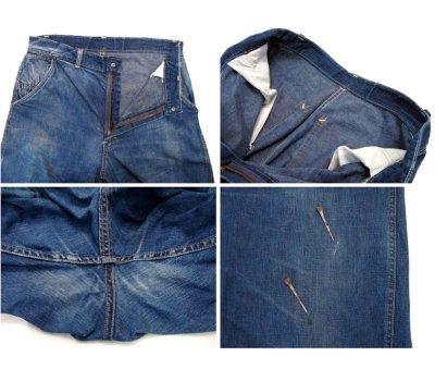"""画像2: 1950's """"CROWN"""" Denim Painter Pants size 34.5 inch (表記 なし)"""