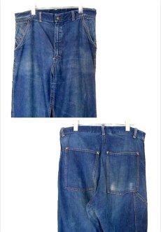 """画像3: 1950's """"CROWN"""" Denim Painter Pants size 34.5 inch (表記 なし) (3)"""