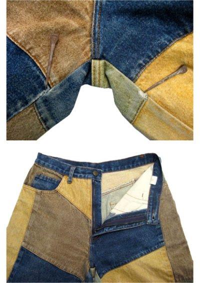 """画像2: 1990's """"PHILIP"""" Crazy Pattern Denim Pants size 31.5 inch (表記 40)"""