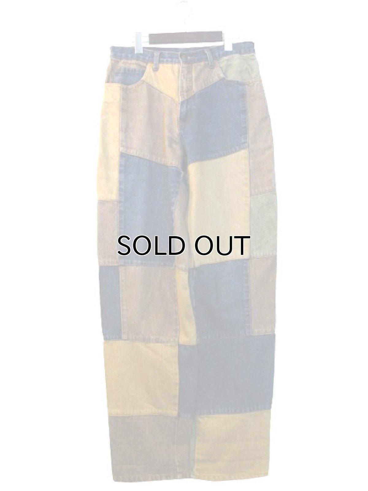 """画像1: 1990's """"PHILIP"""" Crazy Pattern Denim Pants size 31.5 inch (表記 40) (1)"""