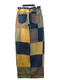"""画像2: 1990's """"PHILIP"""" Crazy Pattern Denim Pants size 31.5 inch (表記 40) (2)"""