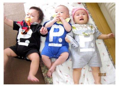"""画像2: """"ポエムのロンパース""""  for KID'S  """" P """"  ブルー size 24 M"""
