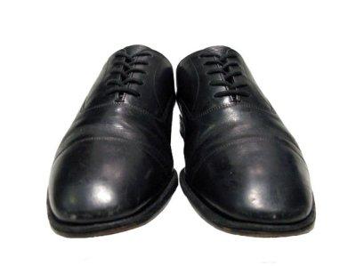 """画像2: OLD """"Church's"""" Straight Tip Leather Shoes made in England BLACK  size 7 E  ( 25-25.5 cm )"""