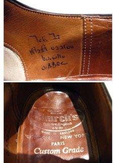 """画像4: OLD """"Church's"""" Straight Tip Leather Shoes made in England BLACK  size 7 E  ( 25-25.5 cm ) (4)"""