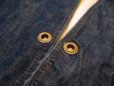 """画像3: 1970's """"LEVI'S"""" Reversible Vest Big """"E"""" DENIM / STRIPE size L  (表記 無し)"""