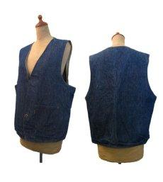 """画像3: 1970's """"LEVI'S"""" Reversible Vest Big """"E"""" DENIM / STRIPE size L  (表記 無し) (3)"""