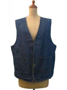 """画像2: 1970's """"LEVI'S"""" Reversible Vest Big """"E"""" DENIM / STRIPE size L  (表記 無し) (2)"""