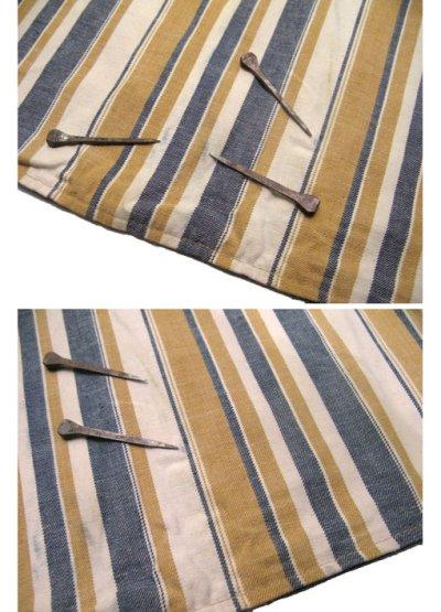 """画像2: 1970's """"LEVI'S"""" Reversible Vest Big """"E"""" DENIM / STRIPE size L  (表記 無し)"""