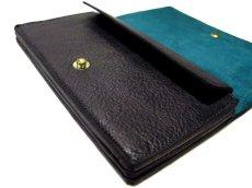 """画像5: """"JUTTA NEUMANN"""" Leather Wallet """"the Waiter's Wallet""""  color : BLACK / EMERALD  財布 ONE SIZE (5)"""