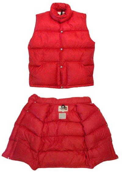 """画像1: 1970-80's """"THE NORTH FACE"""" RIP STOP Down Vest  RED size S - M  (表記 S)"""