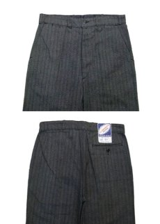 "画像2: 1960's French Cotton Stripe Work Trousers Dead Stock ""Salt and Pepper"" size w 33 inch (表記 42) (2)"