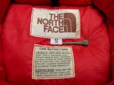 """画像4: 1970-80's """"THE NORTH FACE"""" RIP STOP Down Vest  RED size S - M  (表記 S) (4)"""