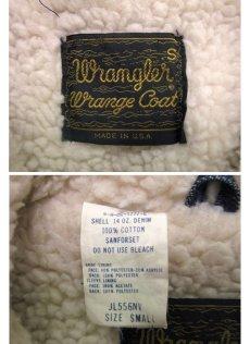 """画像5: 1970's  Wrangler  """"Wrange Coat""""  Denim Boa Jacket size 表記 S (5)"""