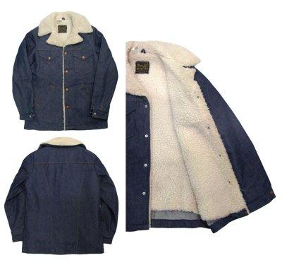 """画像1: 1970's  Wrangler  """"Wrange Coat""""  Denim Boa Jacket size 表記 S"""