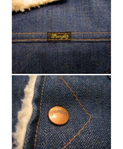"""画像2: 1970's  Wrangler  """"Wrange Coat""""  Denim Boa Jacket size 表記 S"""