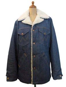 """画像2: 1970's  Wrangler  """"Wrange Coat""""  Denim Boa Jacket size 表記 S (2)"""