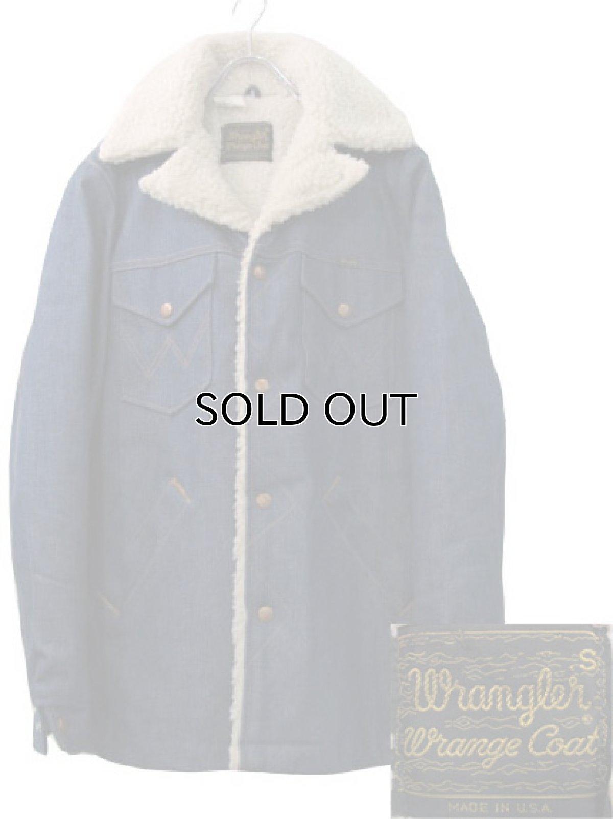 """画像1: 1970's  Wrangler  """"Wrange Coat""""  Denim Boa Jacket size 表記 S (1)"""