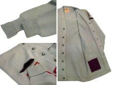 """画像5: 1950's """"ALBION KNITTING MILLS"""" Lettered Cardigan """"LONG"""" GREY GREEN size M - L  (表記 無し) (5)"""