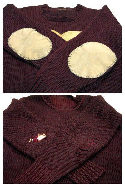 """画像2: 1940's """"JAMES W. BRINE CO."""" Lettered Pullover Sweater size S - M (表記 無し)"""