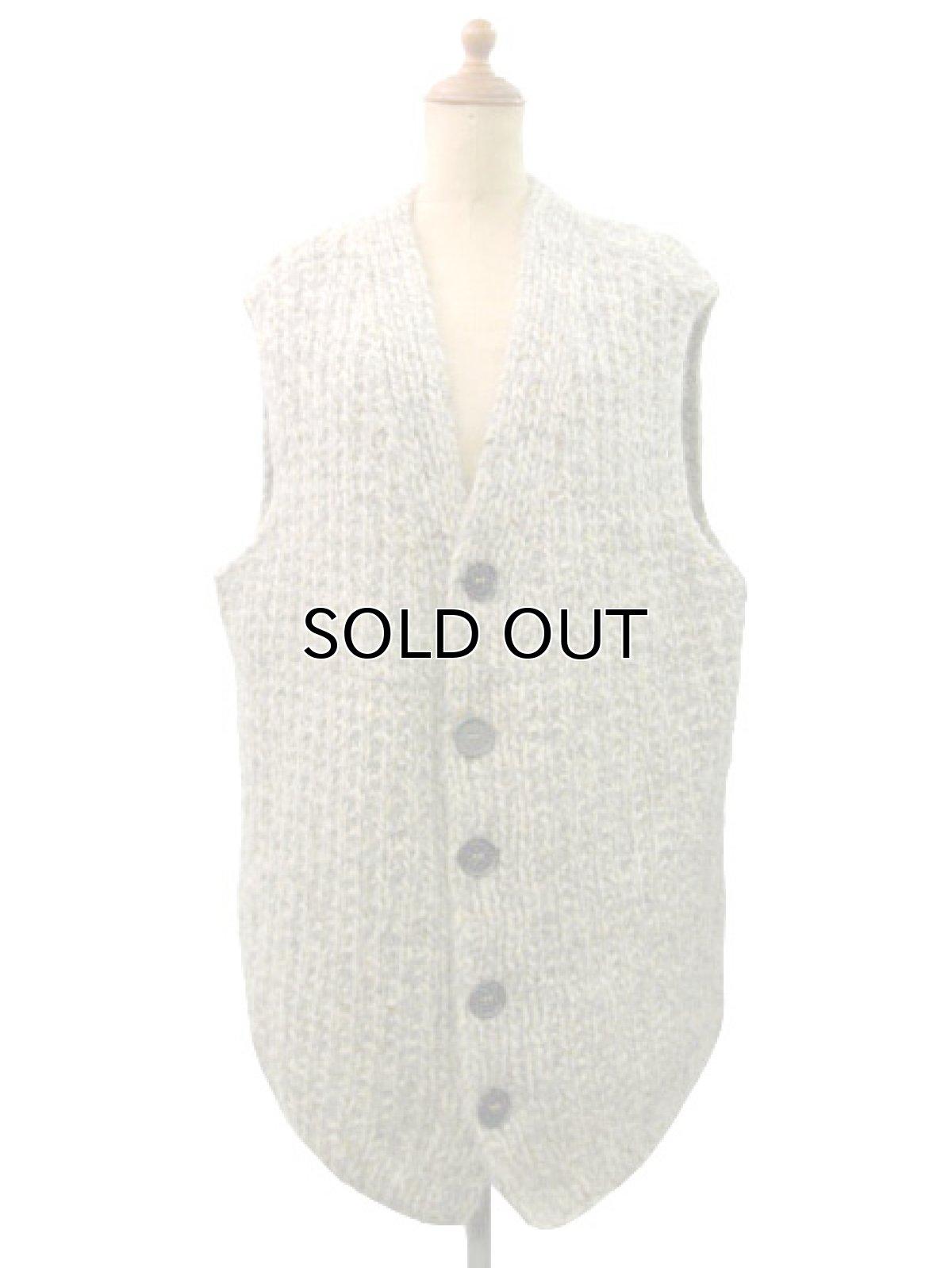 画像1: OLD Mix Wool Knit Vest size XL  (表記 無し) (1)