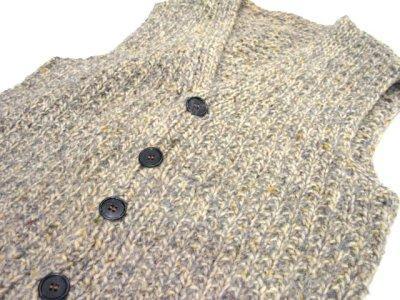 画像2: OLD Mix Wool Knit Vest size XL  (表記 無し)