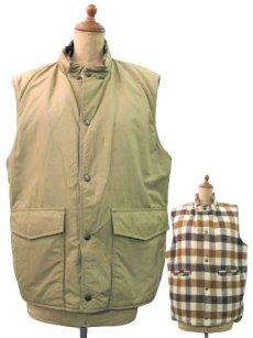 """画像1: 1980's """"L.L.Bean"""" Reversible Vest  Wool / 60:40 size M - L  (表記 M) (1)"""
