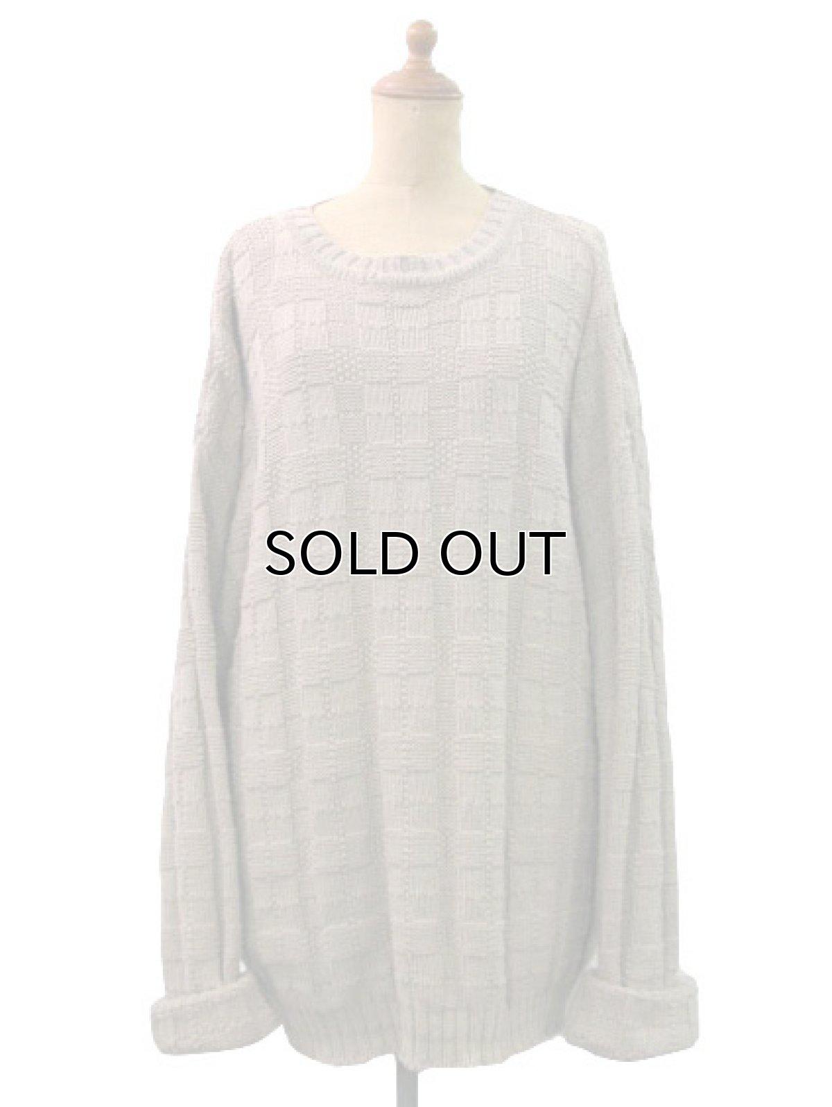 """画像1: """"TONY LAMBERT. Design Group"""" Big Size Cotton Knit Sweater size XL (表記 無し) (1)"""