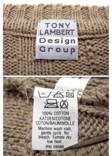"""画像4: """"TONY LAMBERT. Design Group"""" Big Size Cotton Knit Sweater size XL (表記 無し) (4)"""