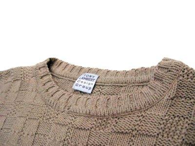 """画像3: """"TONY LAMBERT. Design Group"""" Big Size Cotton Knit Sweater size XL (表記 無し)"""