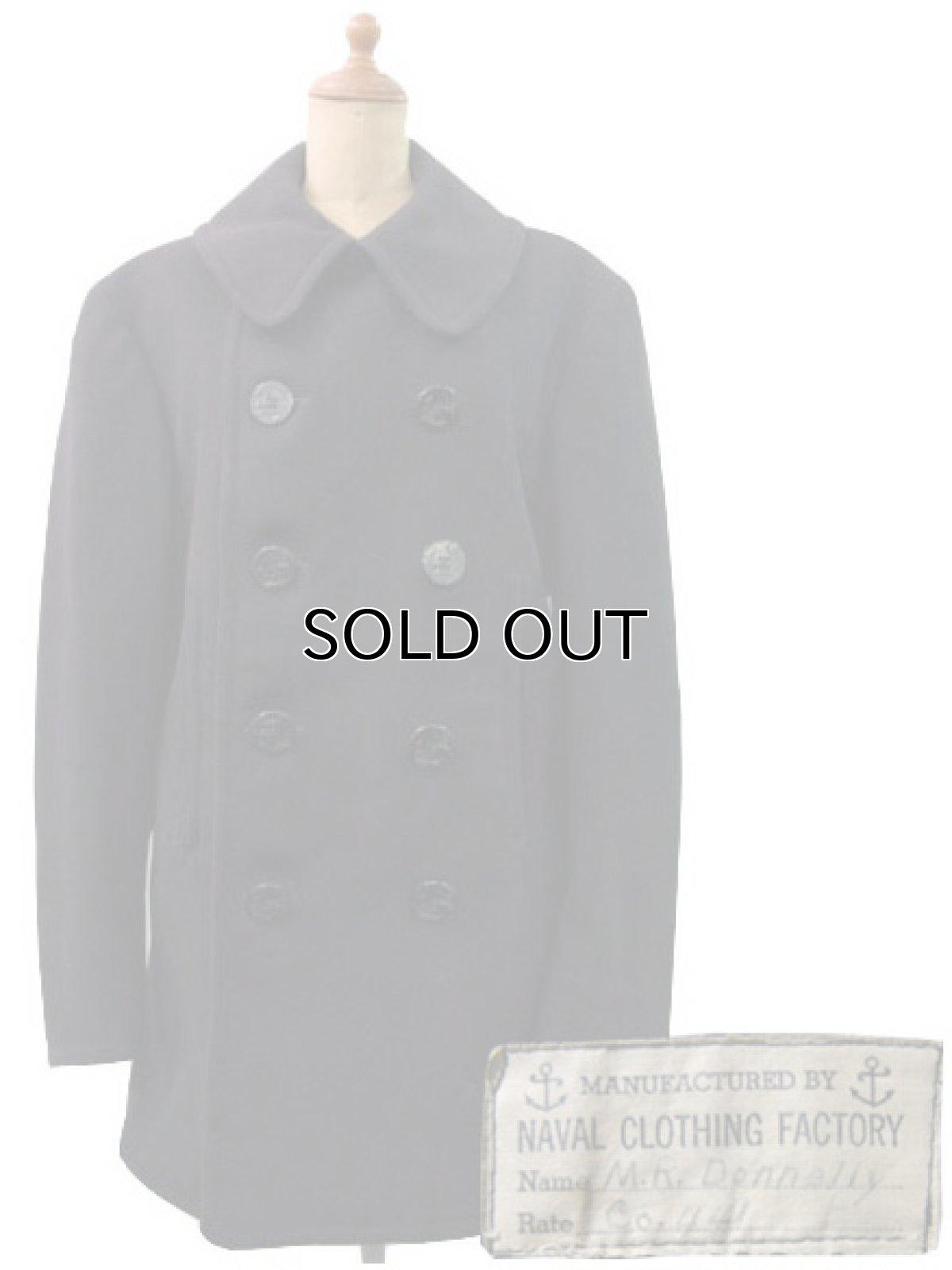 画像1: 1940's US NAVY 10-Button P-Coat size 36ぐらい  (表記 不明) (1)