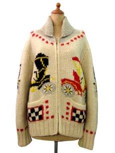 """画像1: 1960's~ """"Classic Car """" Cowichan Sweater size M  (表記 無し) (1)"""