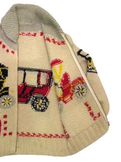 """画像3: 1960's~ """"Classic Car """" Cowichan Sweater size M  (表記 無し)"""