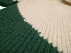 画像5: 1960's~ Two-Tone Cowichan Sweater Natural / Green size XL  (表記 無し) (5)