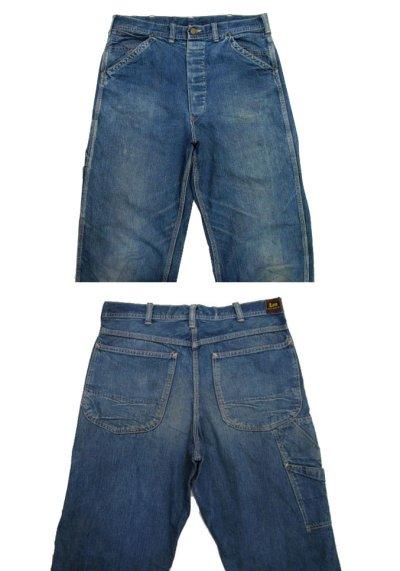 """画像1: 1950's H.D.Lee 191B JELT DENIM Painter Pants  """"Long L"""" size  w 33 inch (表記 なし)"""