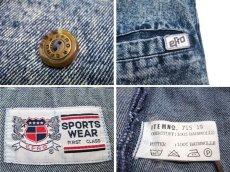 """画像4: 1990's  """"EFLO"""" Double Breasted Chemical Wash Denim Jacket size M (表記 S) (4)"""
