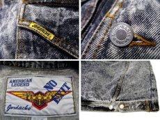 """画像3: 1990's  """"JORDACHE"""" Chemical Wash Design Black Denim Jacket size XL (表記 ) (3)"""