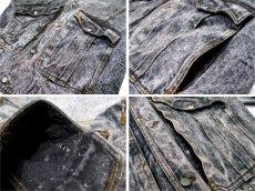 """画像5: 1990's  """"JORDACHE"""" Chemical Wash Design Black Denim Jacket size XL (表記 ) (5)"""