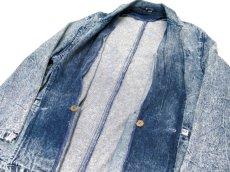 """画像5: 1990's  """"EFLO"""" Double Breasted Chemical Wash Denim Jacket size M (表記 S) (5)"""