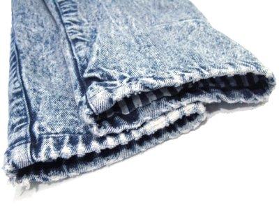 """画像2: 1990's  """"EFLO"""" Double Breasted Chemical Wash Denim Jacket size M (表記 S)"""