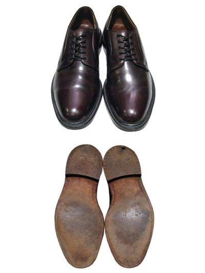 """画像1: """"Lloyd & Haig"""" Plain Toe Leather Shoes  Burgundy  size 10  ( 28 cm )"""