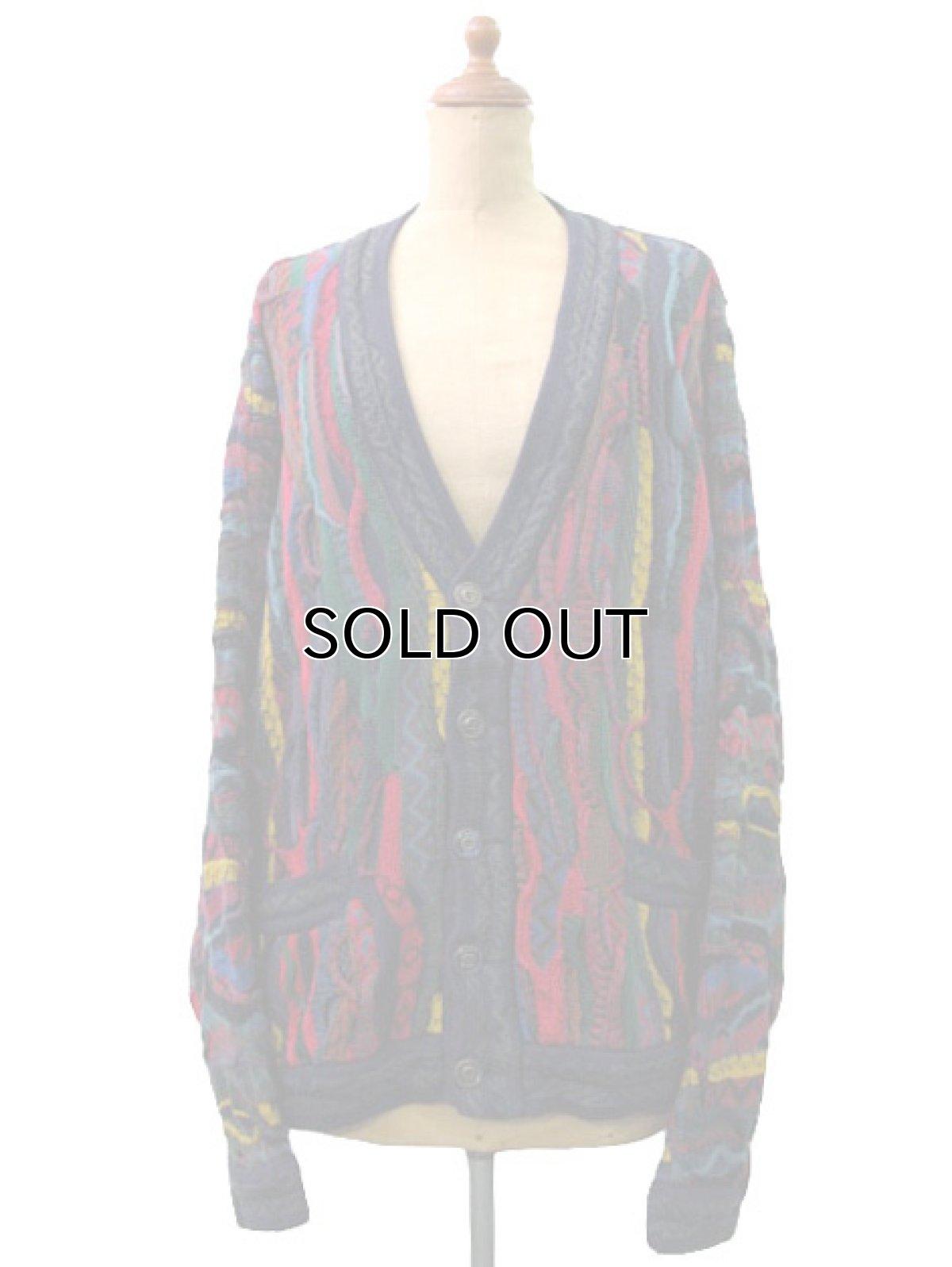 """画像1: """"COOGI"""" Multi Color Cotton Knit Cardigan made in Australia   size  M  (表記 M) (1)"""