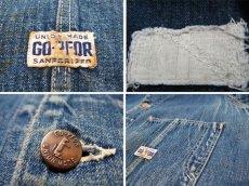 """画像3: 1940-50's """"GO-PFOR""""  Denim Coverall size M - L  (表記 不明) (3)"""