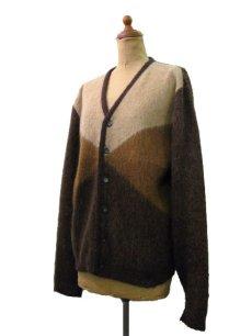 "画像2: 1960's ""Finecraft"" Mohair Cardigan  BROWN size S - M (表記 M) (2)"